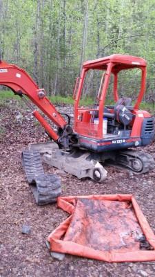 broken excavator